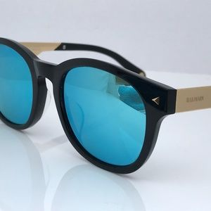 Balmain Men Sunglasses Blue Mirror Lenses BL5112K